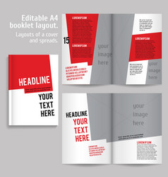 A4 book Layout Design Template vector image