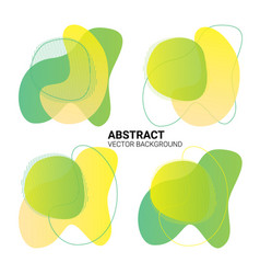 abstract freeform in yellow-green color gradient vector image