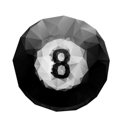 Abstract geometric polygonal 8 ball billiards vector image