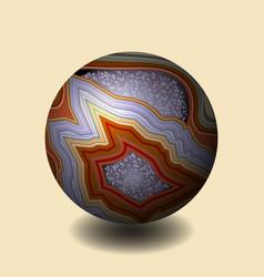 agate ball of stone precious stone gemstone vector image