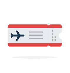 airplane ticket flat material design isolated vector image