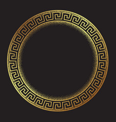 antique greek style gold meander ornanent vector image