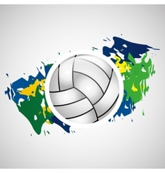ball volleyball olympic games brazilian flag vector image