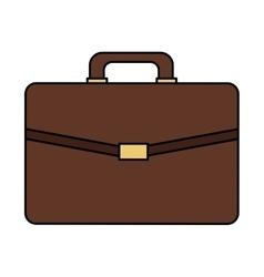 Brown briefcase icon vector