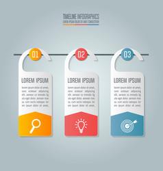 Business concept with 3 options steps vector