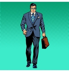 businessman goes forward vector image