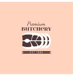 Butcher shop logo 04 A vector