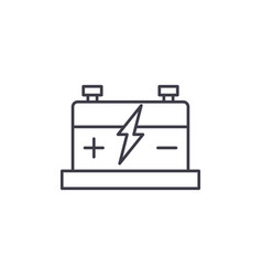 car battery line icon concept car battery vector image