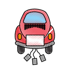 Car of newlyweds icon vector