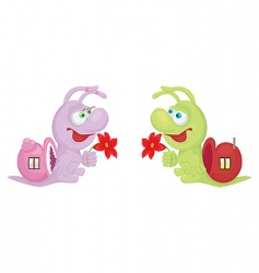 Cartoon snails vector