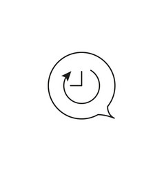chat timer icon vector image vector image