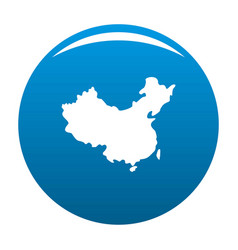 china map icon blue vector image
