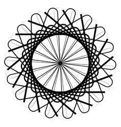 circular geometric element abstract motif mandala vector image