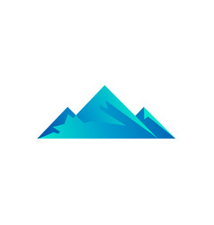 clean poly mountain logo template vector image