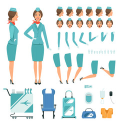 Constructor characters of stewardess vector