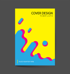 Covers with flat dynamic design geometric shapes vector