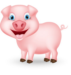 cute pig cartoon vector image