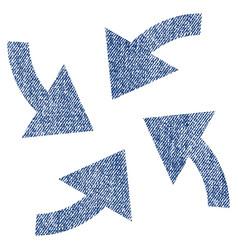cyclone arrows fabric textured icon vector image