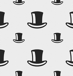 Cylinder hat icon sign Seamless pattern with vector