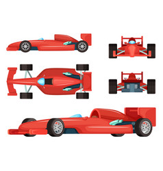 different sides of sport cars vector image