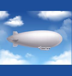 dirigible realistic background vector image