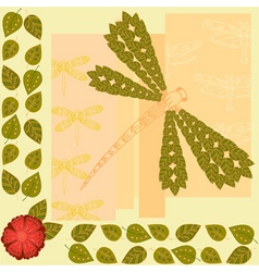 dragonfly background vector image