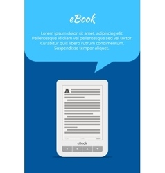 EBook or tablet concept Quote bubble A portable vector