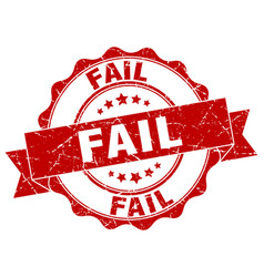 Fail stamp sign seal vector
