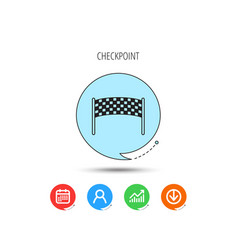 finishing checkpoint icon marathon banner sign vector image