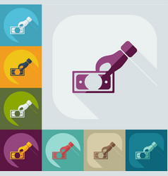 Flat icon banknote business theme vector