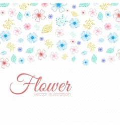 Flower background concept vector image
