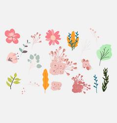 Flower sets vector