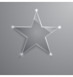 frame glass star Eps10 vector image