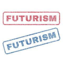 Futurism textile stamps vector