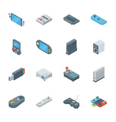 Gamepad and game consoles vector