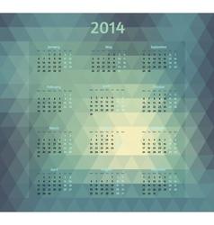 Geometric style 2014 year calendar vector image