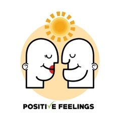Graphic design of Positive Feeling vector