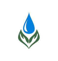 hand leaf water icon concept vector image