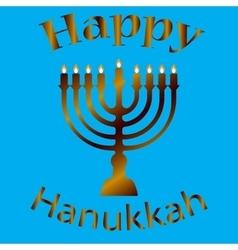 Hanukkah Typographic Design - Happy vector image