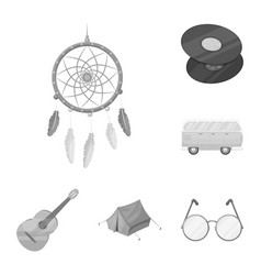 happy and attribute monochrome icons in set vector image
