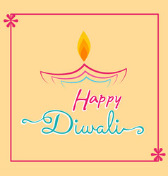 Happy diwali luxury greeting cards set india vector