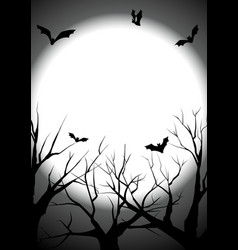 happy halloween graveyard silhouette background vector image