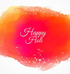 Happy holi colorful ink background vector