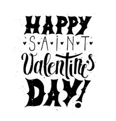 Happy Valentine day Typographic poster vector image