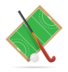 Hockey on the field vector