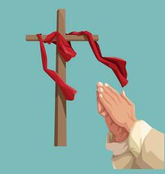 Holy week catholic tradition vector