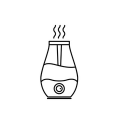 humidifier air diffuser line icon purifier vector image