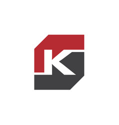 initial k rectangle logo template vector image