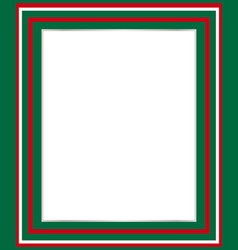 Italian flag symbol border vector