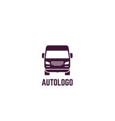logo delivery van vector image